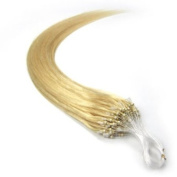 60cm Loop Micro Ring Beads Tipped Remy Human Hair Extensions 100s 613light Blonde for Women's Beauty Hairsalon in Fashion