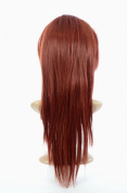 Henna Red Straight Half Wig Volume TiHaira Hairpiece | Add Extra Length and Volume |Henna Red Hair Extensions