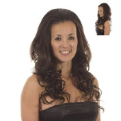 Dark Brown Long Curly Half Wig Hairpiece | Add Extra Length & Curl | Curly Hair Extensions |