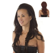 Deep Red Half Wig | Backcombed Volume Effect | Hair Extensions | Full Volume Half Wigs