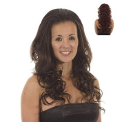 Red Long Curly Half Wig Hairpiece | Hair Extensions | Add Instant Volume and Length
