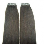 10 Pieces 50cm Remy Tape Hair Extensions #2 Chocolate Brown