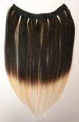 Tressecret Ombre Tail Dip Dye Clip In Extension, 41cm X 46cm , Black Blonde