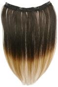 Tressecret Ombre Tail Dip Dye Clip In Extension, 41cm X 46cm , Black Dark Blonde