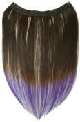 Tressecret Ombre Tail Dip Dye Clip In Extension, 41cm X 46cm , Black Purple