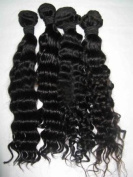Janet Collection Indian Remy Water Deep Wet & wavy 36cm #1 Jet Black