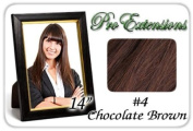 36cm Inch #4 Chocolate Brown Pro Extensions Human Hair Extensions
