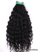 30cm Inches| 100% Virgin Unprocessed Peruvian Remy Human Hair Extension| Deep Wave| Colour