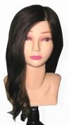 Celebrity Amanda Cosmetology Human Hair Manikin, 50cm
