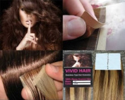 20 Pcs X 60cm inches Remy Seamless Tape Skin weft Human Hair Extensions Colour 5 / 7 W Medium Brown Mix Dark Blonde