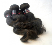 100% Virgin Indian Remy Weft Hair Extension- Natural Brown- Body Wave - 16 Inches- 100 Grammes