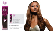Velvet Remi Human Hair Weave - Yaki Weaving - 18s (46cm Short) - Colour 1b OFF Black