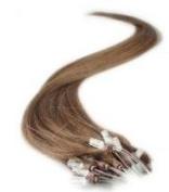 46cm 100grs,100s,Micro Loop(Rings) Human Hair Extensions #6 Medium Chestnut Brown