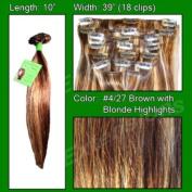 #4/27 Brown w/ Blonde Highlights - 25cm