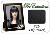 50cm Inch #1b Off Black Pro Extensions Premier REMI Human Hair Extensions