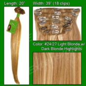 #24/27 Light Blonde W/ Golden Blonde - 50cm