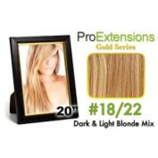ProExtensions #24/27 Light Blonde w/Dark Blonde Highlights Pro Cute - Gold Series