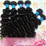 2012 Top Quality Human Hair weft Deep Curly 50cm Brazilian Virgin Remy 100% Human Hair Weave Weft 3 Bundles 300 Grammes Unprocessed Natural Colour Extensions