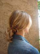 BLONDE HAIR EXTENSION SCRUNCHIE BUN UP DO DOWN DO MULTI TONES SPIKY TWISTER