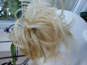 HAIR EXTENSION SCRUNCHIE LIGHT HONEY BLONDE UP DO DOWN DO SPIKY TWISTER ELASTIC