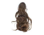 Light Brown girl lady women Clip on Ponytail Hair Wave Wigs Pony Extension Hairpiece 3B02