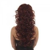 Henna Red Curly Half Wig Volume TiHaira Hairpiece | Add Extra Length and Volume |Henna Red Hair Extensions