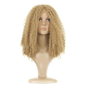 Beyonce Blonde Long Afro Wig | Long Spiral Afro Curl | Golden Blonde Mix