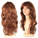 Sexy Long Curly Hair Wig Chic Wavy Full Wigs - Brown