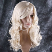 Stylish long curl blonde hair wig Party Perruque