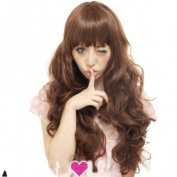 2013 New Women Fashion Kanekalon Long Wavy Sexy Stylish Heat Resistant Synthetic Hair Wig XY018