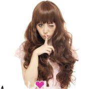 2013 New Women Fashion Kanekalon Long Wavy Sexy Stylish Heat Resistant Synthetic Hair Wig XY018
