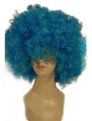 NEW fashion HOT sexy short curly Blue foot ball Fans Anime cosplay wigs party Masquerade 20CM