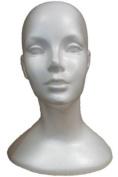 Deluxe Female Head, Styrofoam White
