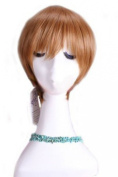 L-email 20-25cm Short Brown Alfred F Jones APH Axis Powers Cosplay Wig Rw72