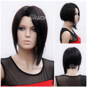 (WG-RIHANNA2) Short Straight Hair Wig, black colour