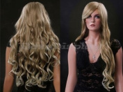 (WG-XC96-27T613) Long Curly Hair Wig, Blonde Colour.