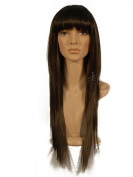 "NEW fashion HOT sexy Long Dark Brown Blonde Straight Full wigs Hair wigs for girls and women 24"" 60CM"
