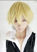 25cm short yellow Shizuo Heiwajima cosplay hair wig ML06