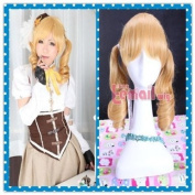 35-40cm Tomoe Mami Medium Long Blonde Wavy Wig Cb16