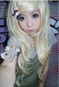 60cm Long Blonde Wavy Fashion Hair Wig Wa101
