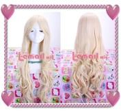 75cm Long Beige Kirisame Marisa Touhou Project Curly Cosplay Wig Cw25