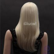 Sexy Long Golden Straight Wig Neat Bangs Wavy Wigs Lace Wigs Hair Wigs Women Wigs
