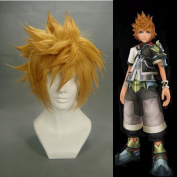 32cm layered Blonde Cosplay Wig -- Ventus Kingdom Hearts