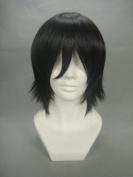 32cm Straight Black Cosplay Wig -- REBORN Hibari Kyoya