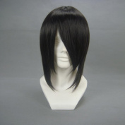 36cm Straight Black Face cut Cosplay Wig -- Black Butler Sebastian Michaelis