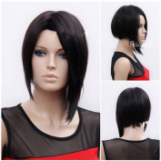 Sexy Women Short Black Wig Lacefront Wig