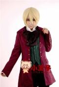 25cm Short Blonde Alois Trancy Kuroshitsuji Straight Cosplay Wig Ml143