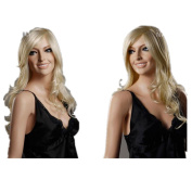 Charming Long Curly Golden Wigs For Women and Ladies Hair Wigs Lace Front Wig Wigs Store