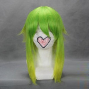 46cm Green & Yellow Cosplay Wig -- VOCALOID GUMI