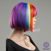 Bob Coloful Rainbow Wigs Lace Wigs Synthetic Wigs For Women